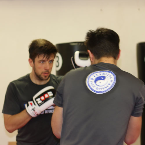Mike and Ales sparring